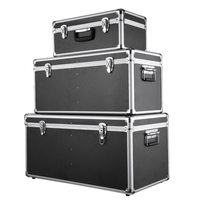 3PCS Multi Purpose Aluminum Tool Storage Boxes Case Lockable Storage Boxes Container Large/Middle/Small Size With Handles