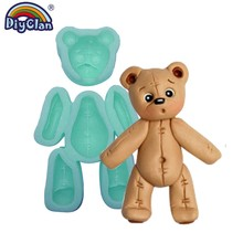 Little Bear Sugarcraft Silica Gel Mould DIY Soft Silicone Fondant Mold For Cake Decoration Animal Chocolate