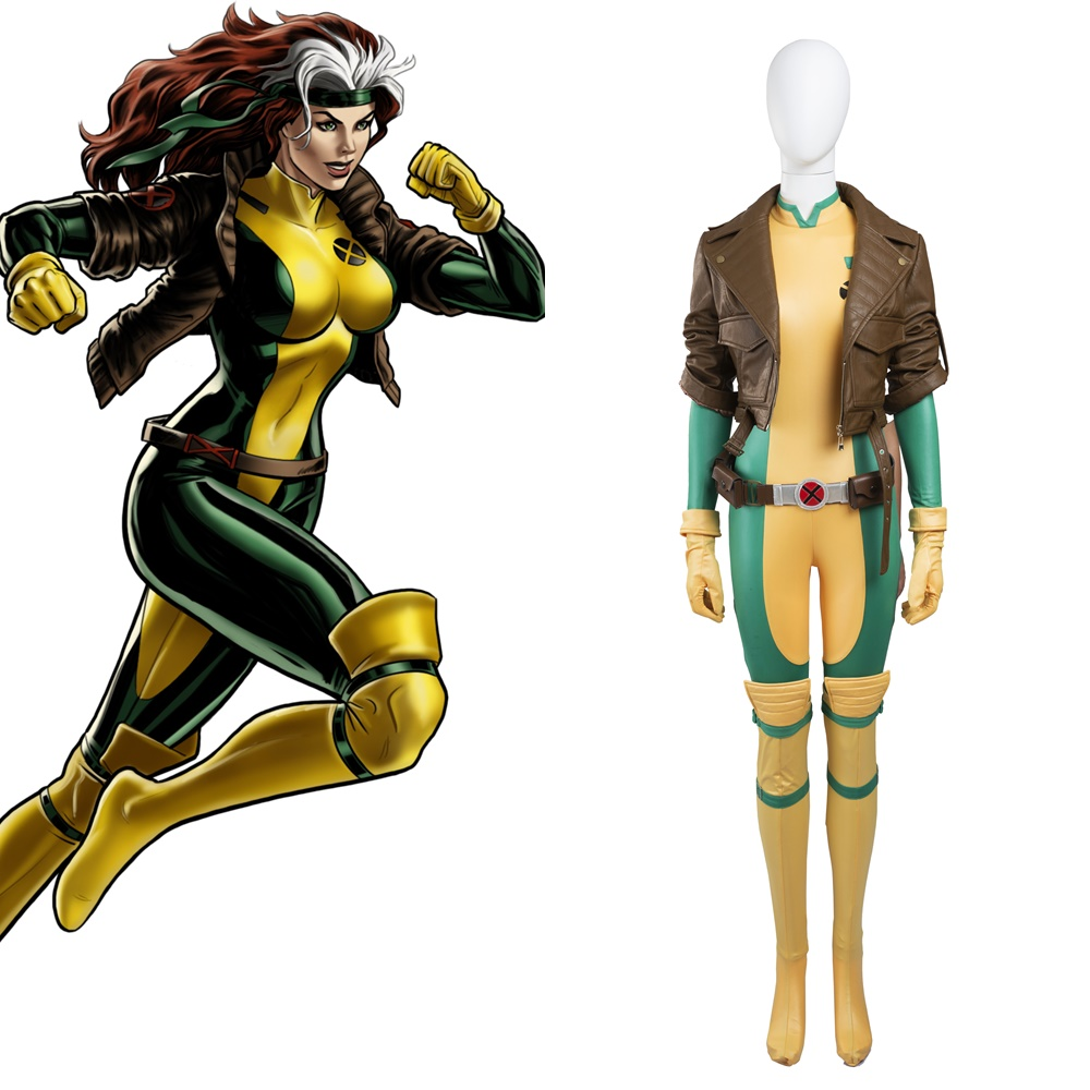 X-Men Anna Marie Rogue Cosplay Costume Halloween Outfit