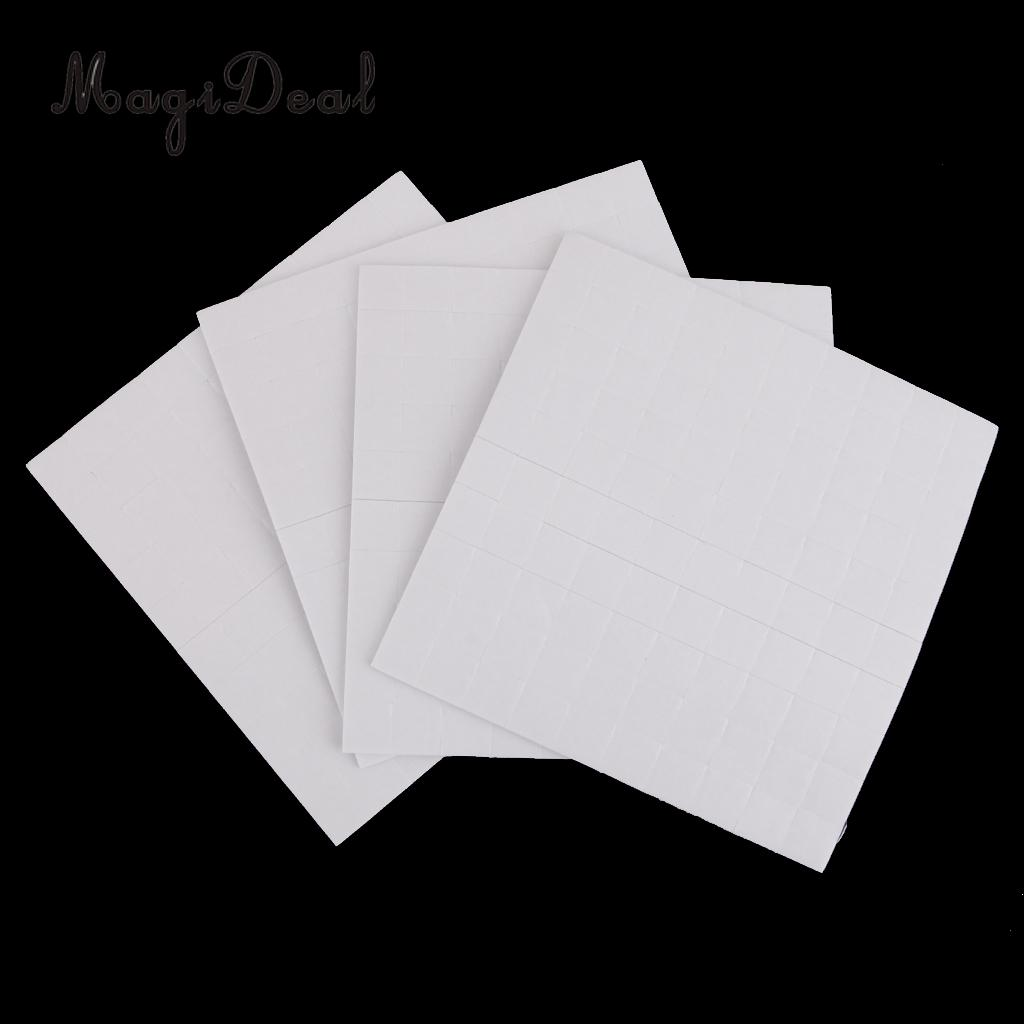 MagiDeal 4 Sheet DOUBLE SIDED ADHESIVE FOAM PADS STICKY FIXERS FOR CARD MAKING FOAM TAPE MOUNTING FIXTING PAD 2mm