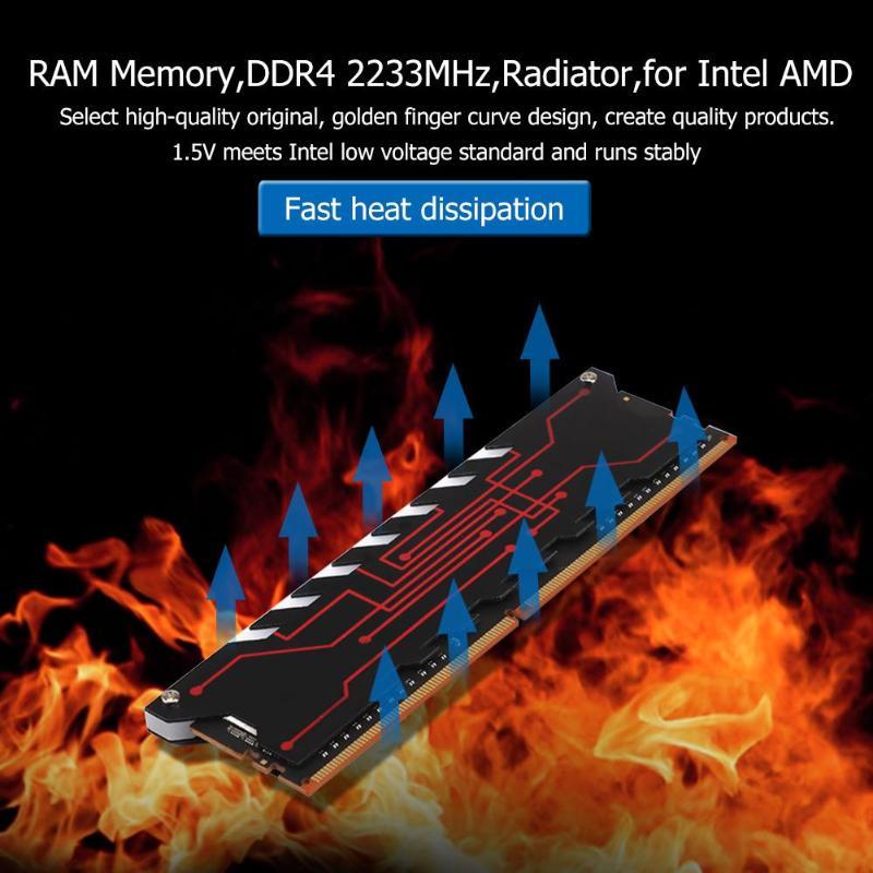 RAM Interne Mémoire DDR4 2233 MHz Radiateur Serveur Mémoire pour PC Ordinateur Portable Pour Intel AMD Carte Mère Carte Mère De Refroidissement gilet - 3