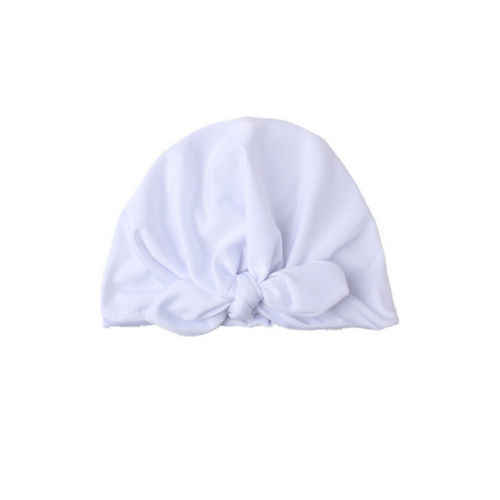 2019 Newborn Toddler Kids Hats Baby Boy Girl Turban Cotton Beanie Hat Winter Warm Solid Cap Cute Casual Fashion New Sale Hot