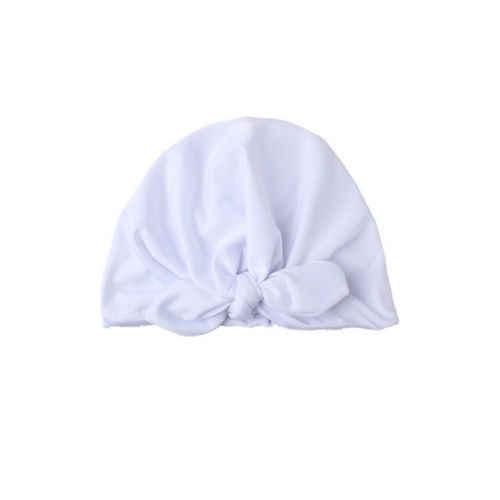 2019 niño recién nacido sombreros bebé niño niña turbante algodón gorro invierno cálido sólido gorra Linda moda Casual nueva venta caliente