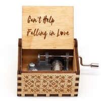 No puede ayudar a caer en el amor caja de música de manivela de madera regalos de navidad musicales caja de guerra