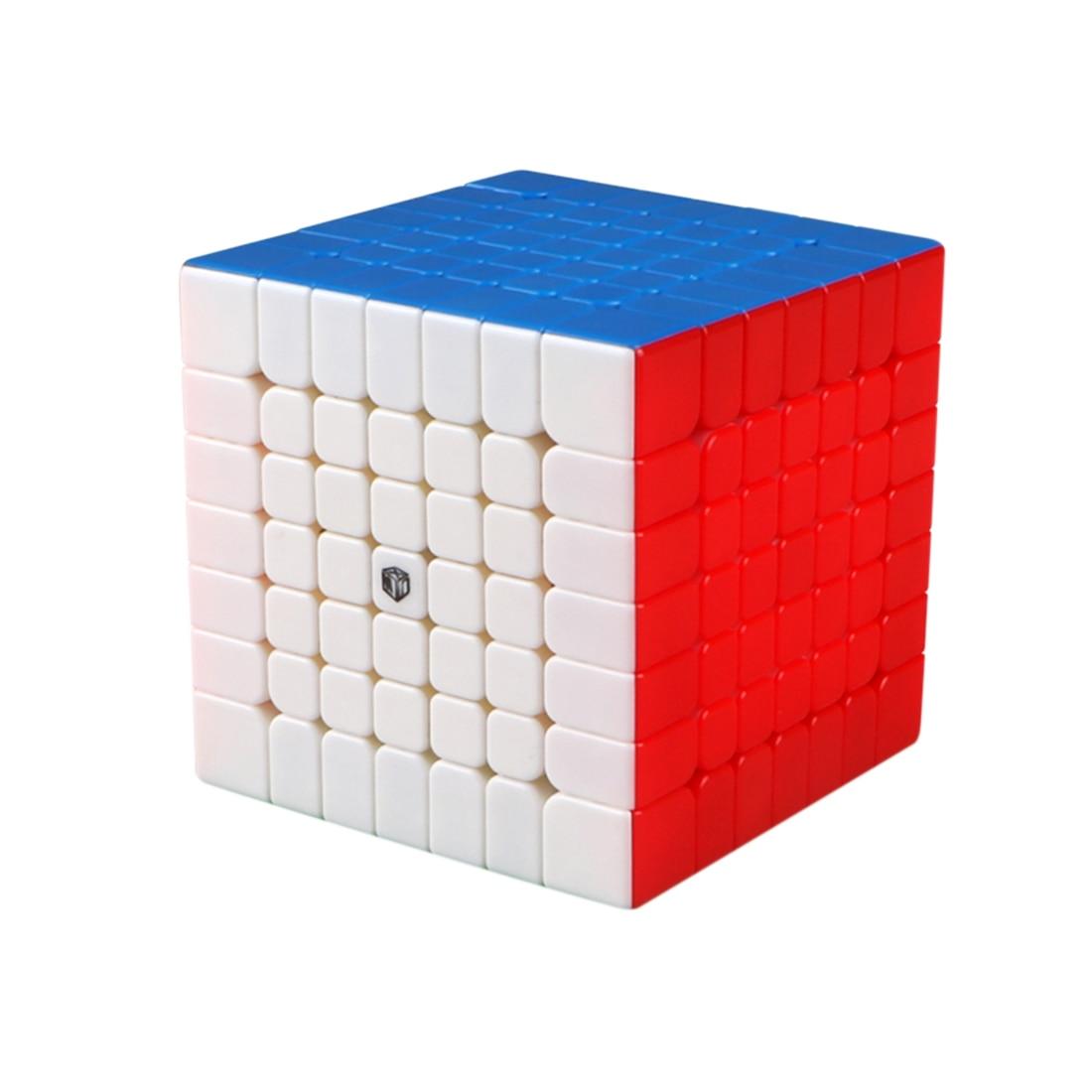 Qiyi x-man Spark 7X7x7 Magic Cube jouets éducatifs pour l'entraînement du cerveau-coloré