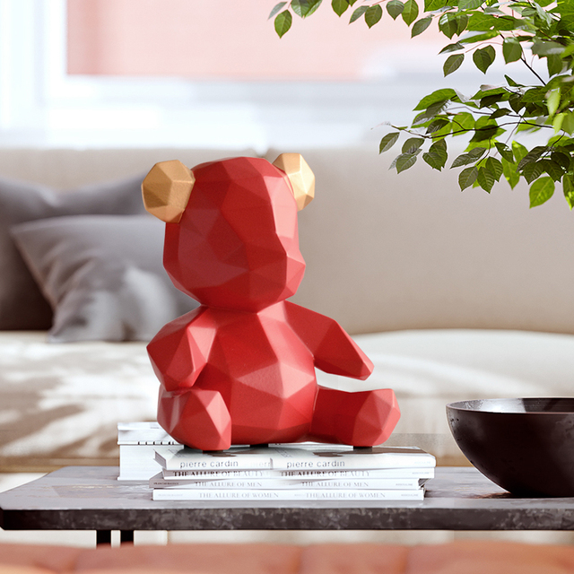 resin home decor sculpture bear Figurine  decoration bear ornament in home office garden children x'mas gift resin animal statue 3