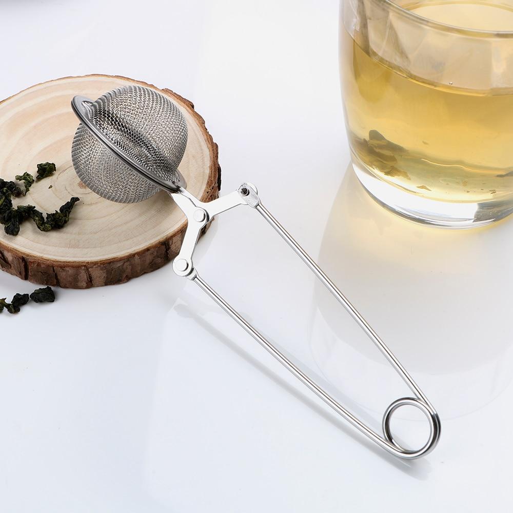 Tea Infuser Stainless Steel Sphere Mesh Tea Strainer Coffee Herb Spice Filter Diffuser Handle Tea Ball mesh tea strainer