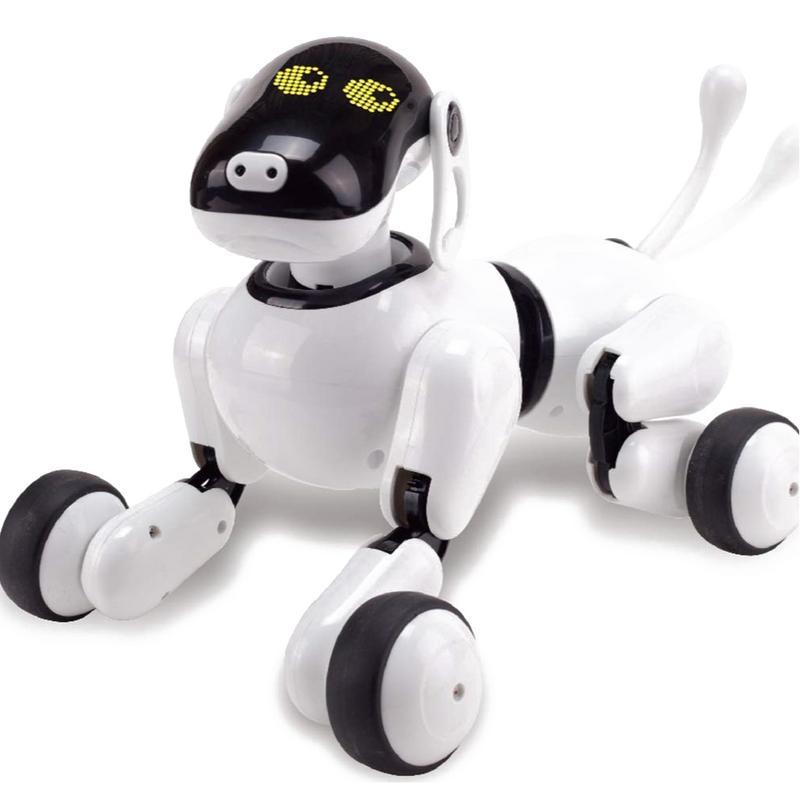 Incroyable Robot Chien Belle Musique Briller La Reconnaissance Vocale Intelligente Électronique RC Jouet Chien Chiot Musique Éclat Action Jouet