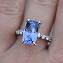 Sapphire Wedding Dress Engagement Diamond Ring Bague Etoile Anillos Bizuteria Amethyst Jewelry Gemstone for Women Sapphire Rings chic floral faux sapphire ring for women