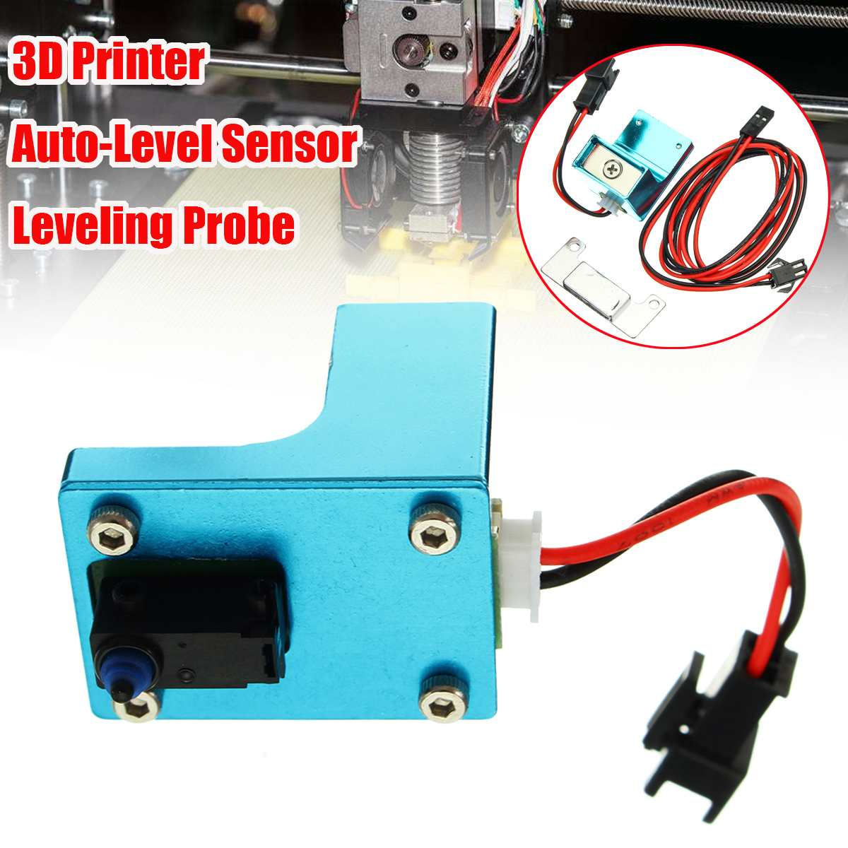 HICTOP 3D Printer Self Leveling Upgrade Auto Leveling Sensor Bed Self Adjustment Inductive Proximity Sensor