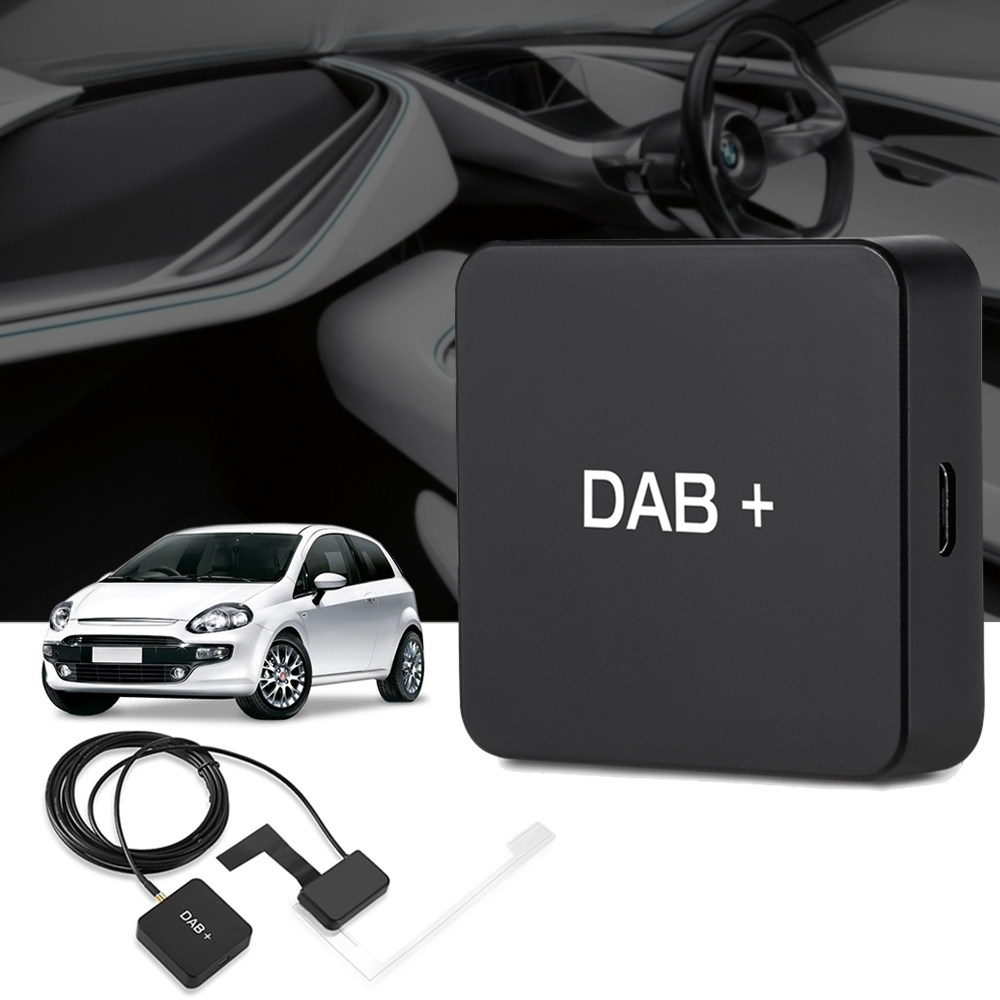New DAB 004 DAB+ Box Digital Radio Antenna Tuner FM Transmission USB Powered For Car Radio Android 5.1 and Above New