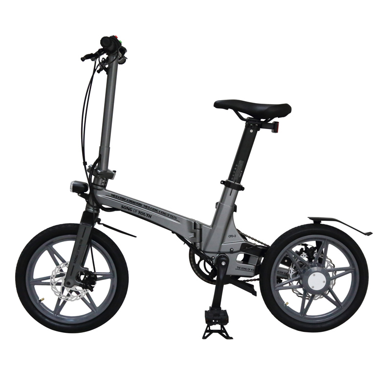 16 Inch Foldable Electric Bicycle Two Wheels Electric Bicycle 250W 36V Portable Electric Scooter Bike For Adults With Seat