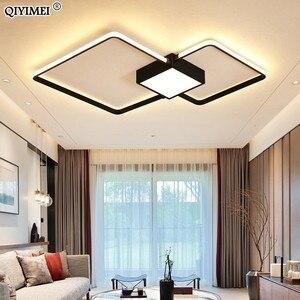 Image 1 - Modern LED avizeler işık lamba oturma odası aydınlatma üç kare yatak odası mutfak yüzey montaj kısılabilir uzaktan kumanda ile