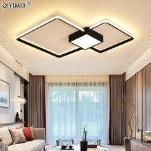 Moderne Led Kroonluchters Licht Lamp Woonkamer Verlichting Drie Vierkante Slaapkamer Keuken Surface Mount Dimbaar Met Afstandsbediening
