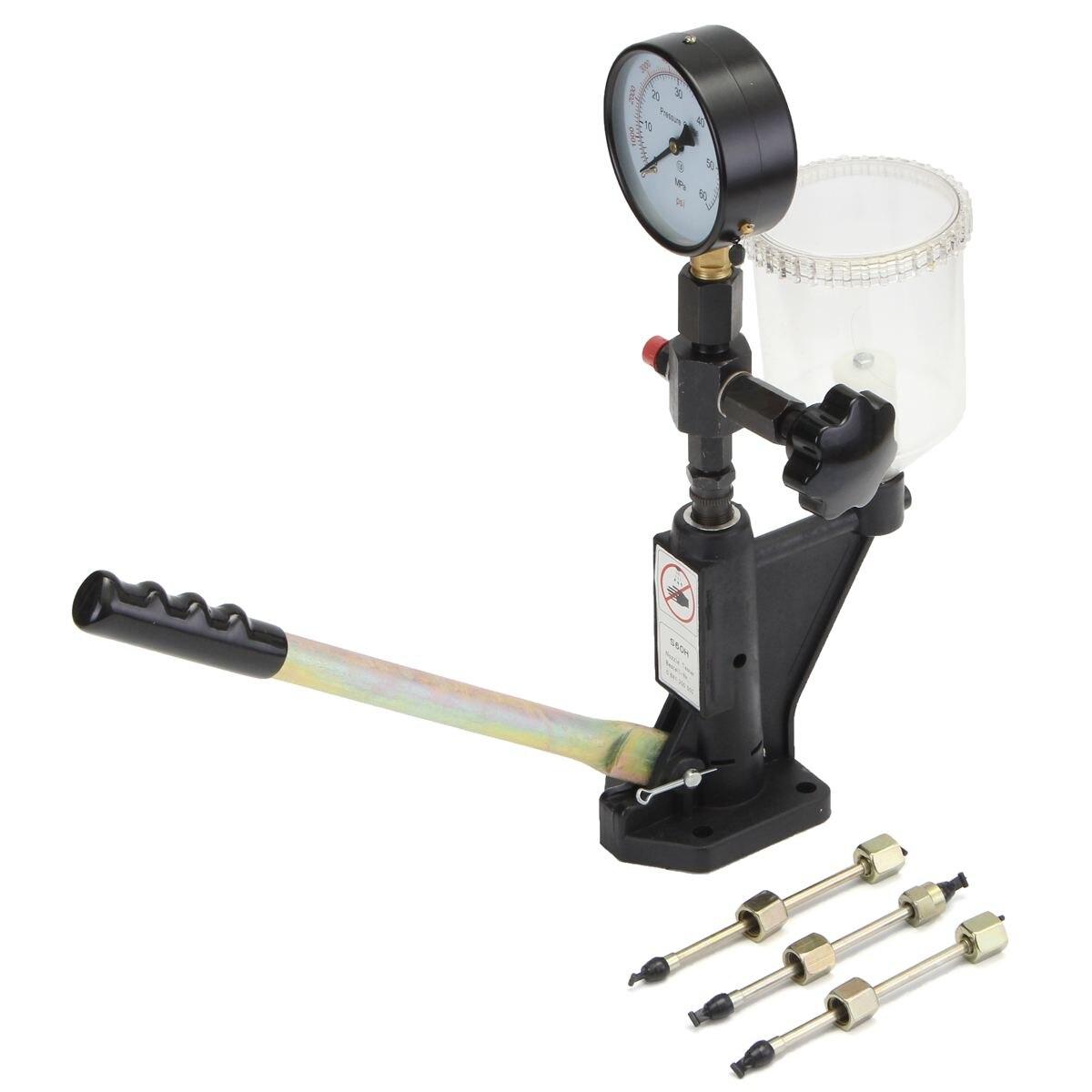 0-400 barre commune Rail outil injecteur de carburant Max 60 Mpa buse Pop pression testeur calibrateur double échelle jauge Diagnostic métal