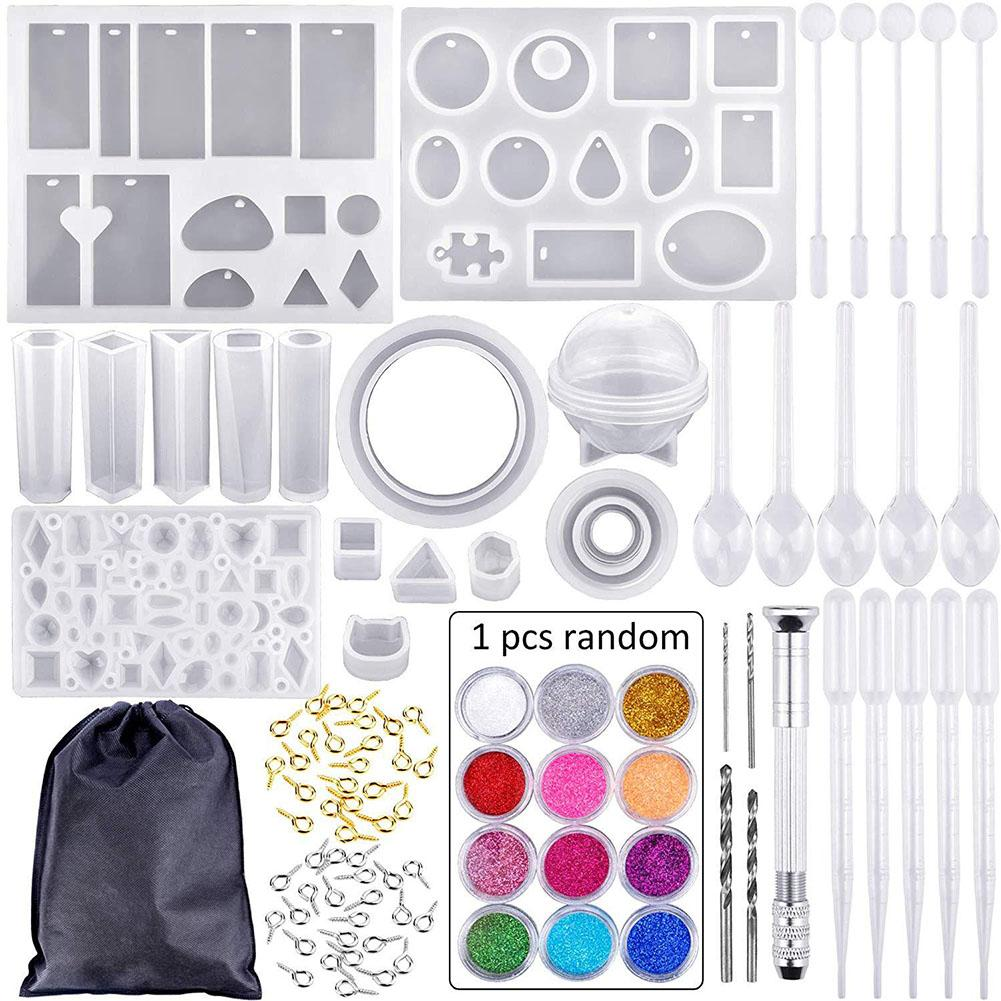 83Pcs/Set DIY Resin Casting Mold Kit Pendant Silicone Mould Making epoxy resin molds for Jewelry Bracelet83Pcs/Set DIY Resin Casting Mold Kit Pendant Silicone Mould Making epoxy resin molds for Jewelry Bracelet