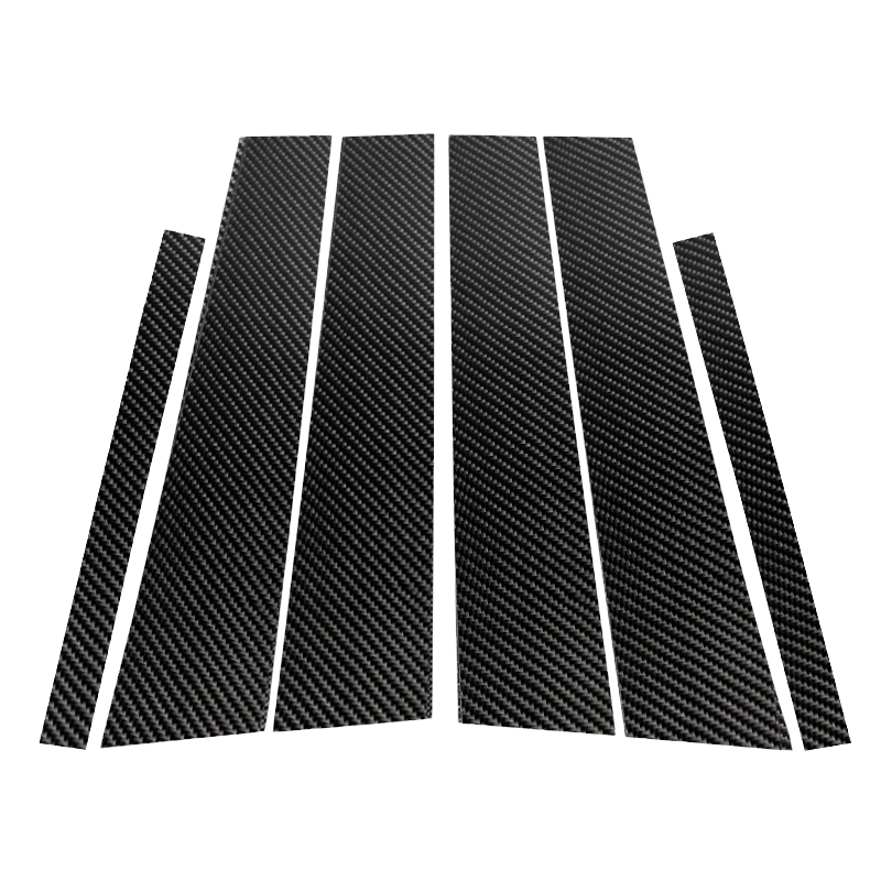 For Mercedes Benz C Class W205 2014 2015 2016 2017 2018 Carbon Fiber Car Window B Pillar Exterior Molding Cover