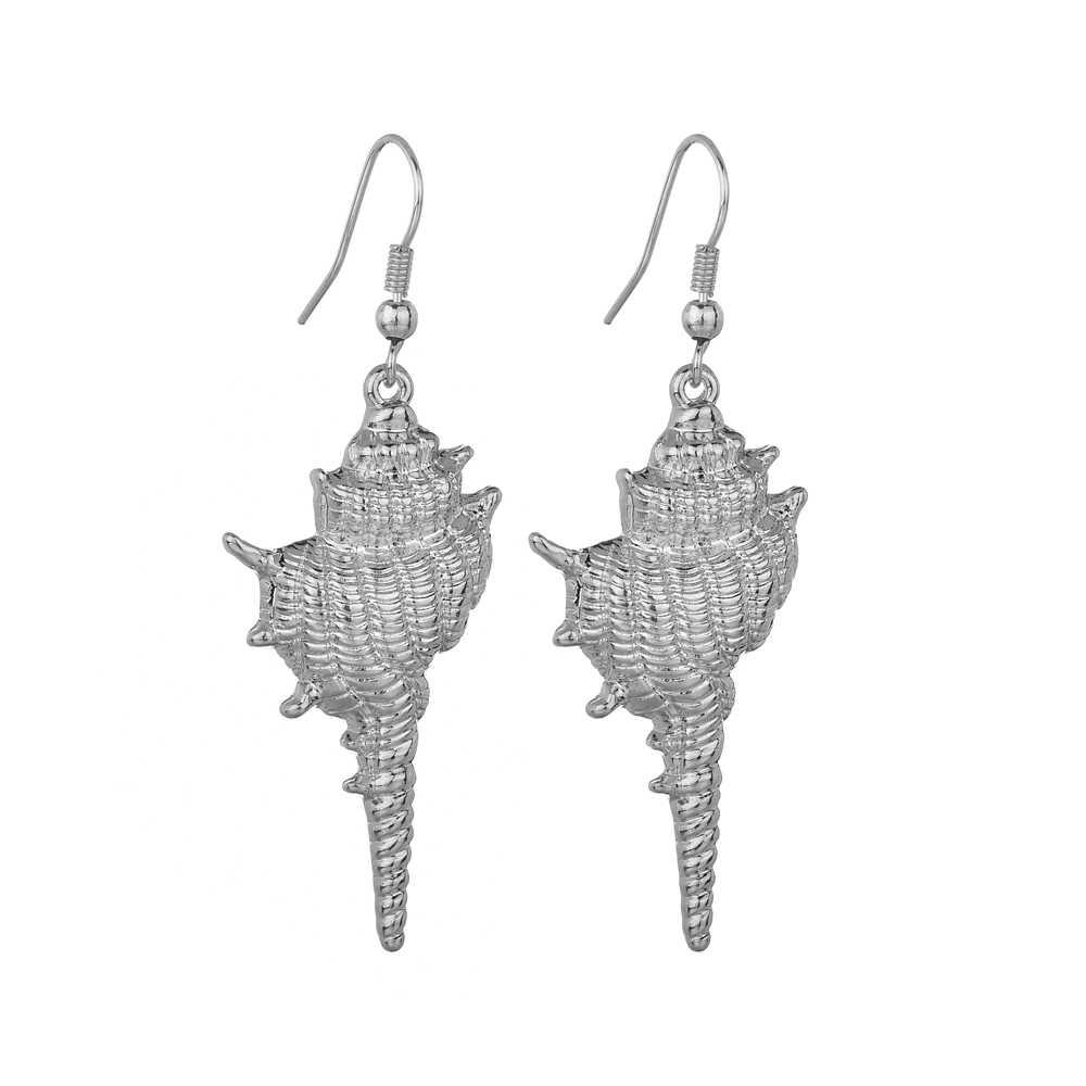 MESTILO bohême coquille or Long pendentif boucles d'oreilles goutte naturel asymétrique Unique conque boucles d'oreilles pour femmes plage Bikini bijoux