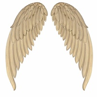 1Pair Ancient Iron Wall Decoration Angel Wings Retro Wing Bar Cafe Wall Decor Home Room Decoration Accessories Angel Wings