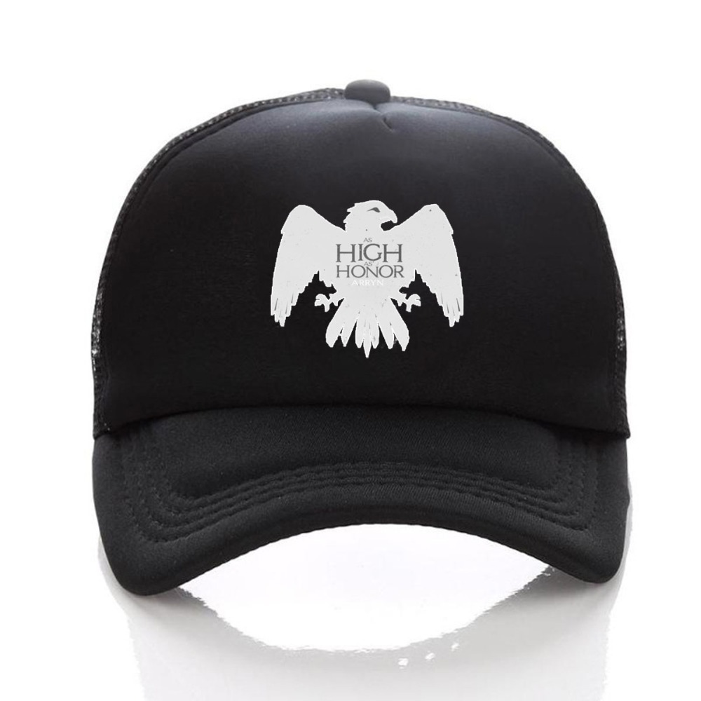 Game of thrones Snapback adjusted men women hat Summer Mesh Sun Full Black Baseball  Caps-in Baseball Caps from Apparel Accessories on Aliexpress.com ... 481f8d2de976