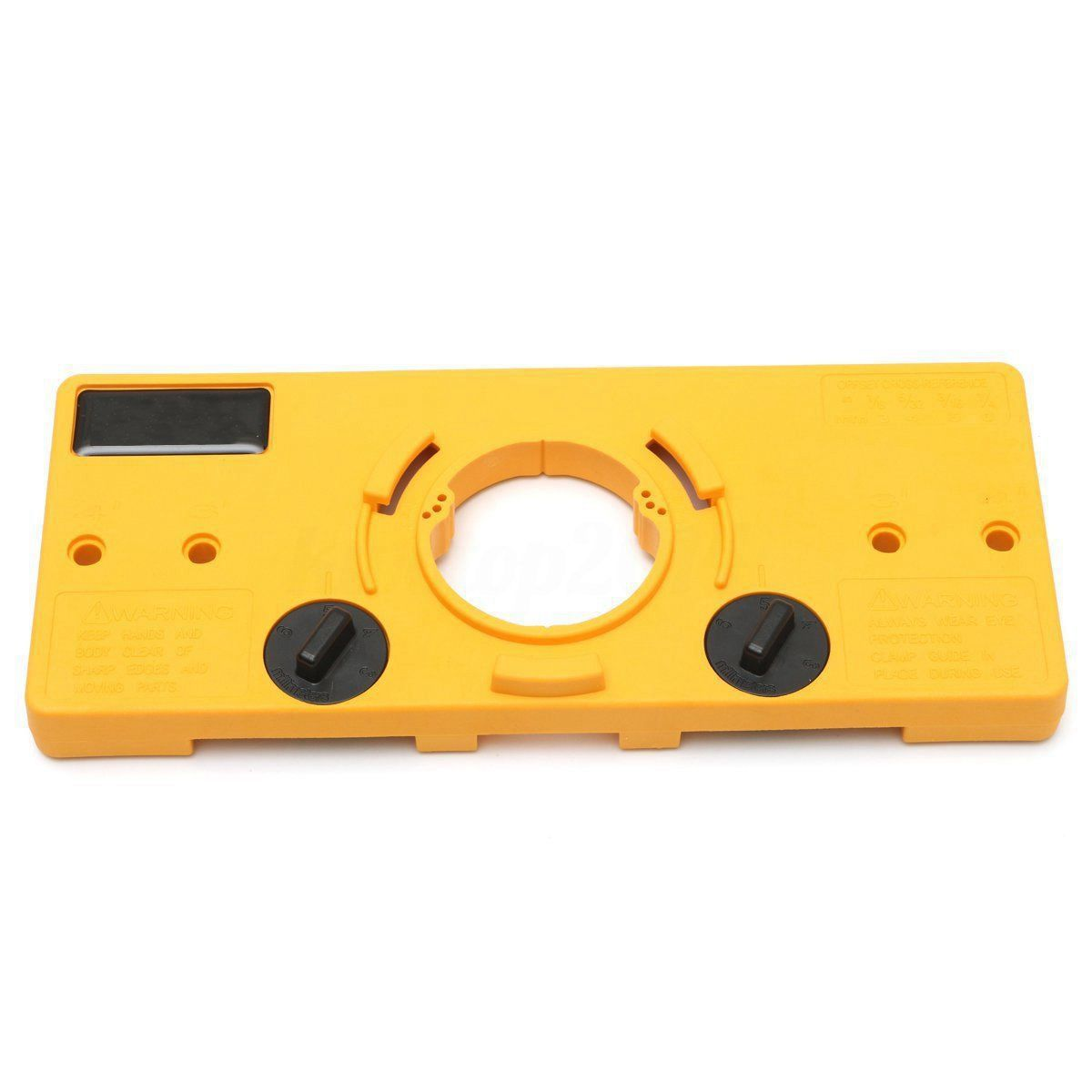 WSFS Hot 35MM Cup Style Hinge Boring Jig Drill Guide Locator Set Pocket  Door Hole Template Set For Kreg Woodworking Tool Wood (Yellow)