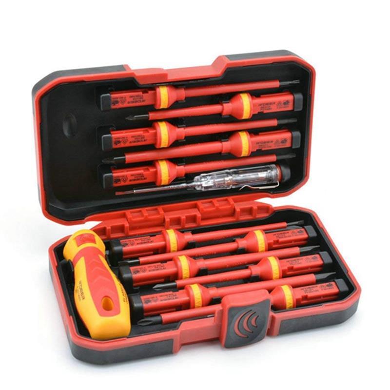 13 Pcs VDE Insulated Screwdriver Set CR-V High Voltage 1000V Magnetic Phillips Slotted Torx Screwdriver Durable Hand Tools Set