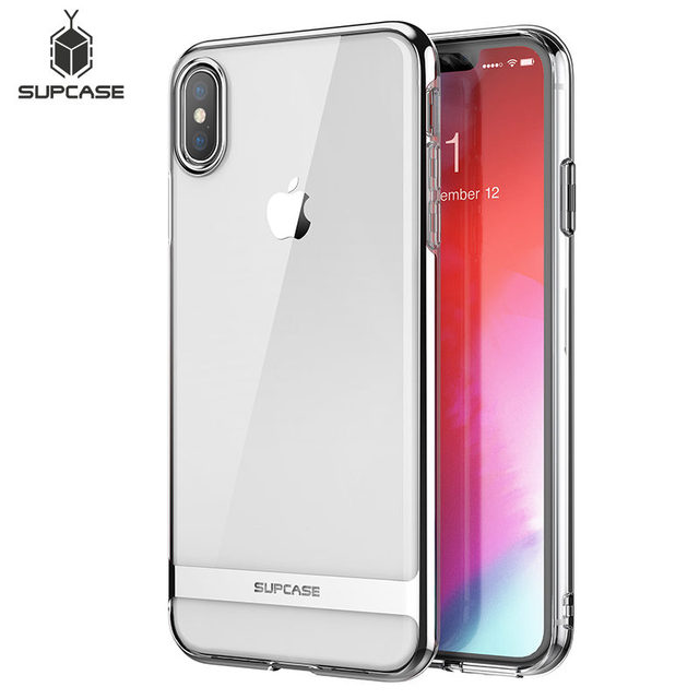 For iphone Xs Max Case SUPCASE UB Metro Premium Slim Soft TPU Case Plated Marble Clear Protective Back Cover For iPhone X & XS