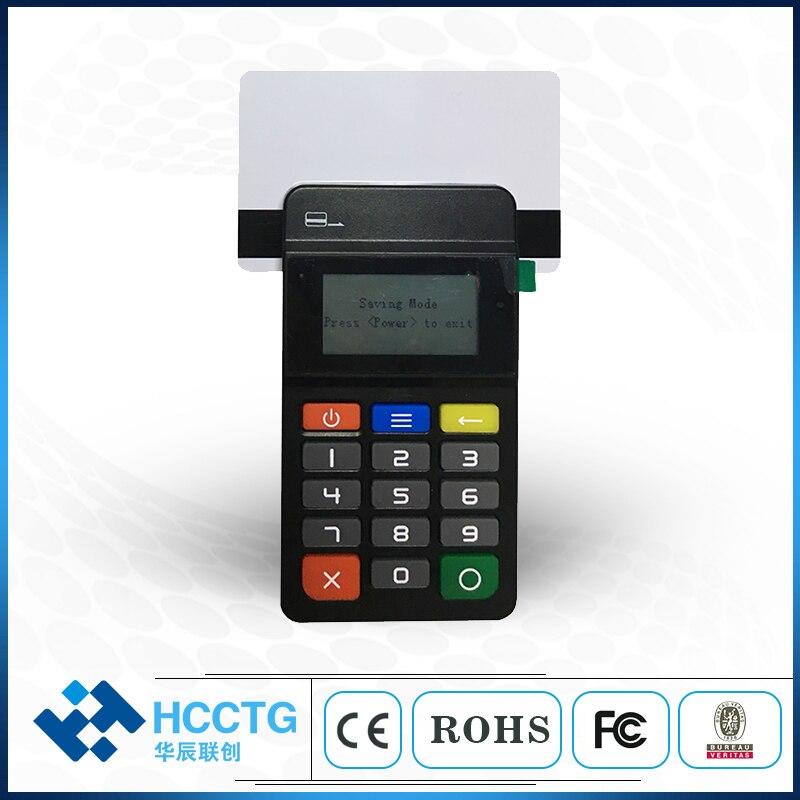 Lecteur de carte à puce Bluetooth lecteur de carte MPOS Terminal de lecteur de carte de crédit portable pratique HTY711