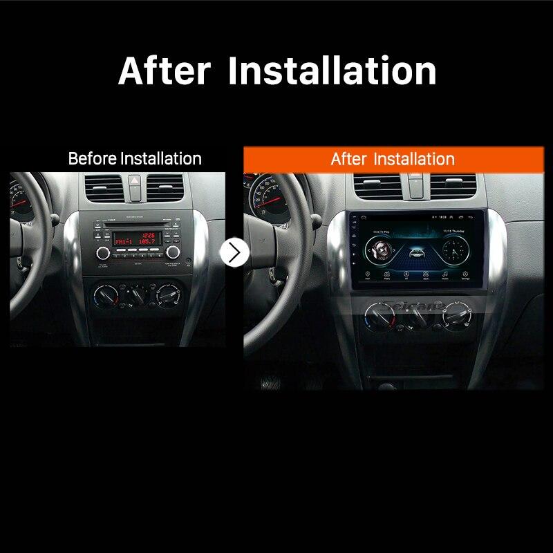 Autoradio Seicane pour 2006-2012 Suzuki SX4 Android 8.1 9 pouces 2Din HD écran tactile GPS lecteur multimédia Support Bluetooth WIFI - 6