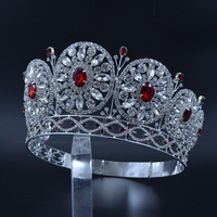 Rhinestone Crown Miss Beauty Crowns For Pageant Contest Private Custom Round Circles Bridal Wedding Hair Jewelry Headband mo228
