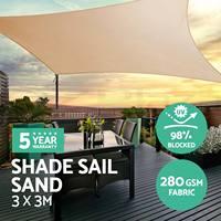 Dikdörtgen 280gsm HDPE Güneş Gölge Yelken Bez Güneş Barınak Güneşlik Koruma Açık Gölgelik Bahçe Veranda Havuzu Gölge Yelken Tente