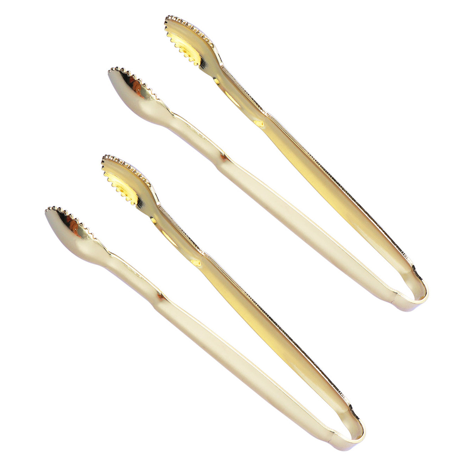 2PCS Ice Tongs Mini Serving Tongs Stainless Steel Tong for Appetizers Sugar Cube