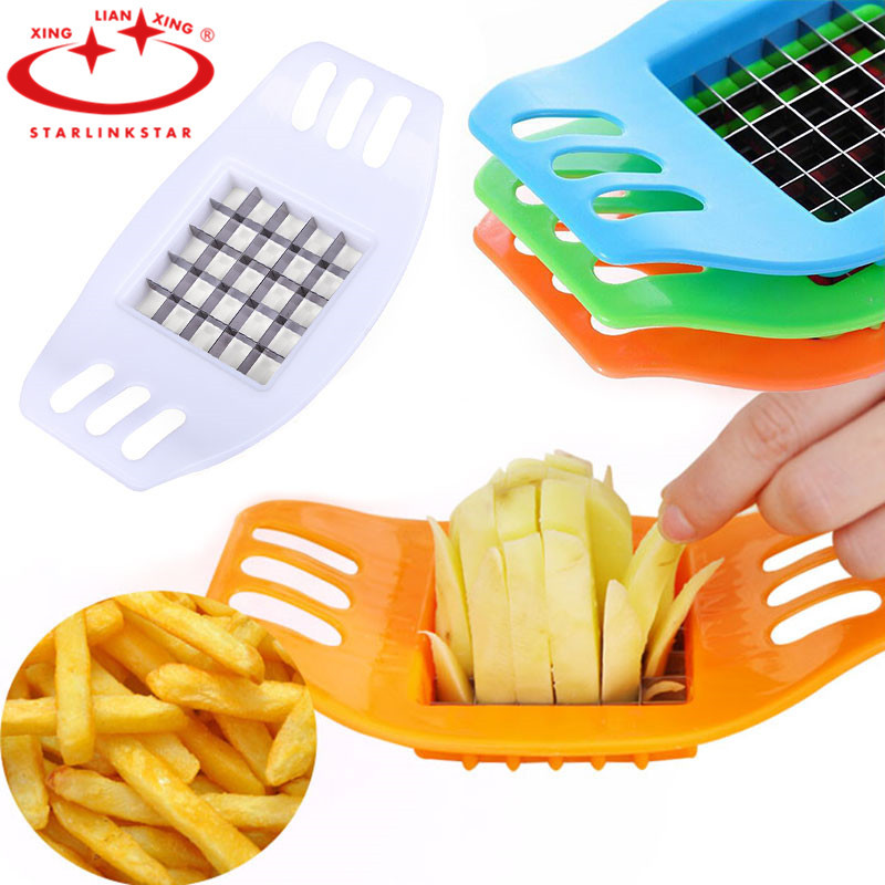 Potato Chip Cutter Stainless Steel Cutter Vegetable French Fry Chopper Chips Making Tool Kitchen Gadgets Accessories