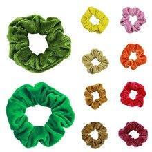 Women Luxury Soft Feel Velvet Hair Scrunchie Ponytail Donut Grip Loop Holder Stretchy band for women