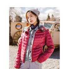 INMAN Spring Autumn Hooded Loose Casual Short Coat Women Down Jacket