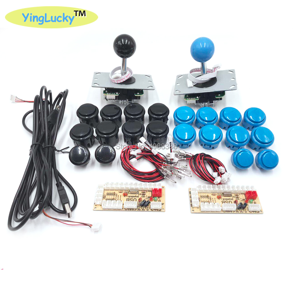 Arcade Joystick DIY Kit Zero Delay Arcade DIY Kit USB Encoder To PC Arcade Sanwa Joystick and Push Buttons For Arcade Mame(China)