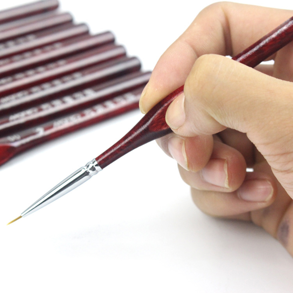 Top Miniature Paint Brush Set Professional Sable Hair Fine Detail Art Nail Model 9Pcs/set