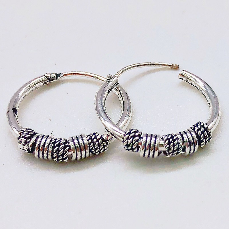 Punk Vintage Nail Head Rings Earrings Female Hoop Earrings Silver Round Circle Ear Ring Earrings For Women Men Aretes Jewelry