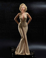 1/4 Scale Model Sexy Anime Goddess Marilyn Monroe Action Figure Blonde Body Feminino 40cm PVC Model Real Doll Collecting Gifts