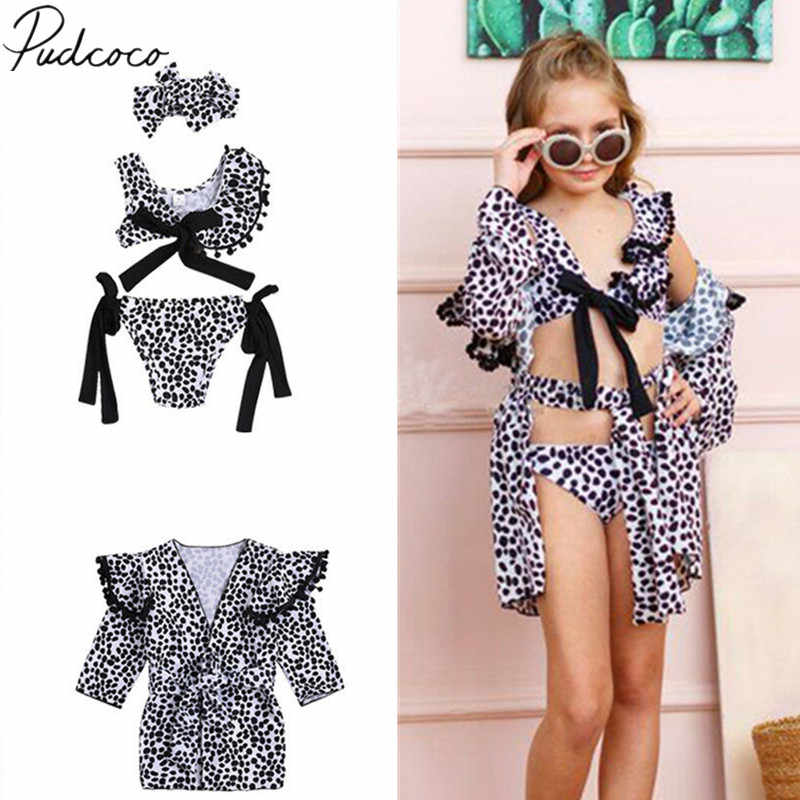 2019 Brand New Toddler Kids Baby Girl Leopard Swimwear Suits Bow Bikini Set  Swimwear Swimsuit Bathing 2628dd1035a4