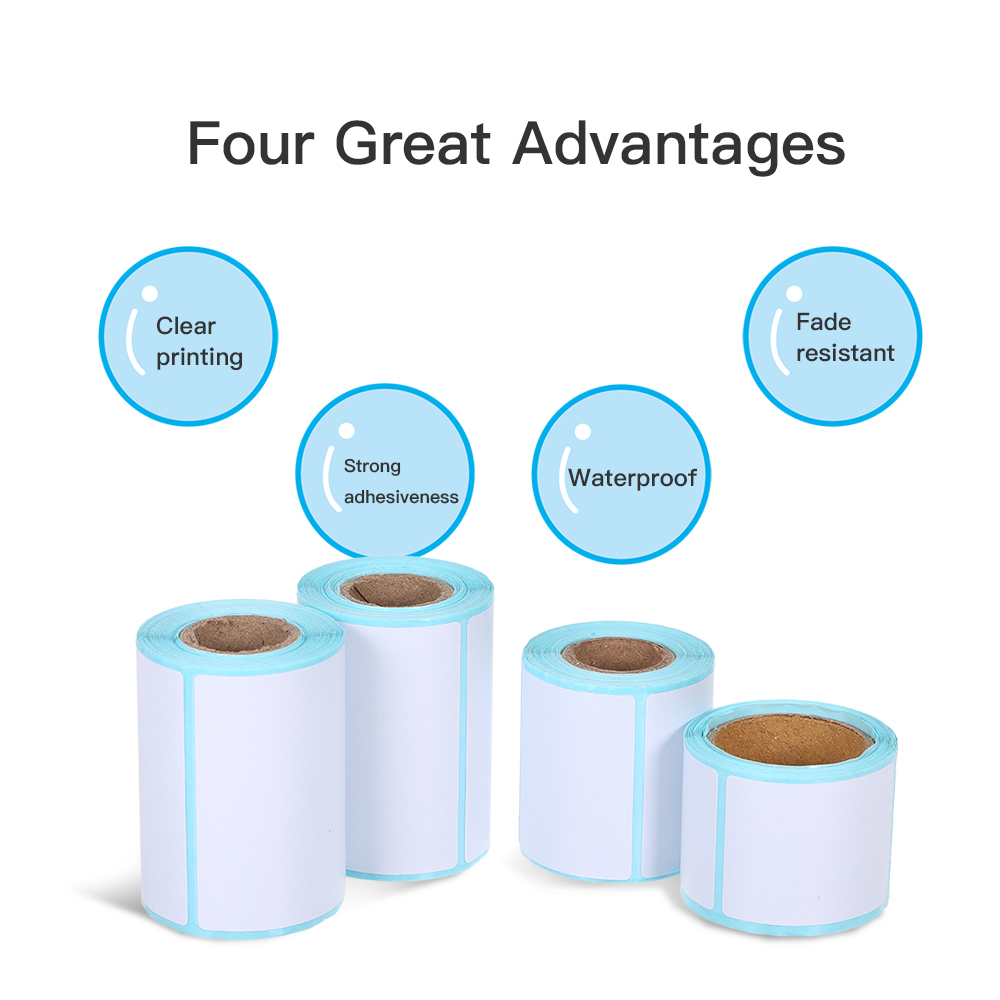 Image 3 - Thermal Label Sticker 10 Rolls Waterproof Oil proof Wine proof 40*20mm/40*30mm/40*40mm/40*70mm Strong Adhesive Sticker-in Stationery Stickers from Office & School Supplies