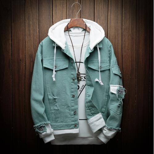 Autumn Hooded Denim Jacket