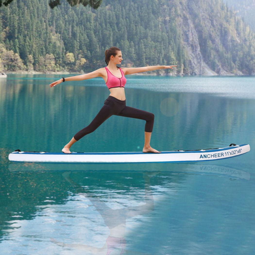 Double-couche Planche de Surf Tout usage support réglable Up Paddle Gonflable 1000D Brossé Planche De Surf Paddle Board 330x80x18 cm - 3