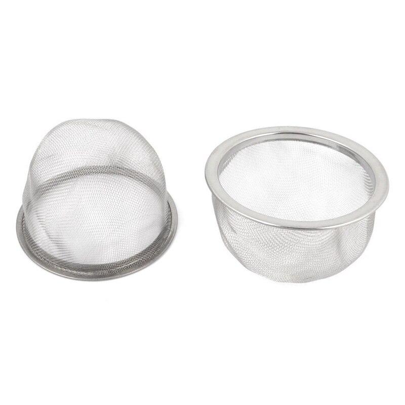 2 Pcs Edelstahl Abtropffläche Mesh Tee Sieb Teekanne Filter Silber Produkte HeißEr Verkauf