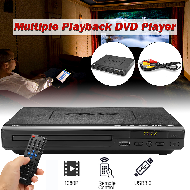 110V-240V USB Portable Multiple Playback DVD Player ADH DVD CD SVCD VCD Disc Player Home Theatre System With Romote Control