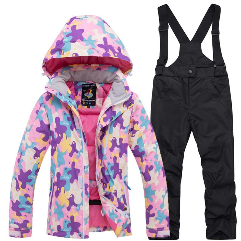 Ski Suit for Children Outdoor Clothes in Winter Windproof Waterproof Thickened Warm Cotton-Padded JacketSki Suit for Children Outdoor Clothes in Winter Windproof Waterproof Thickened Warm Cotton-Padded Jacket