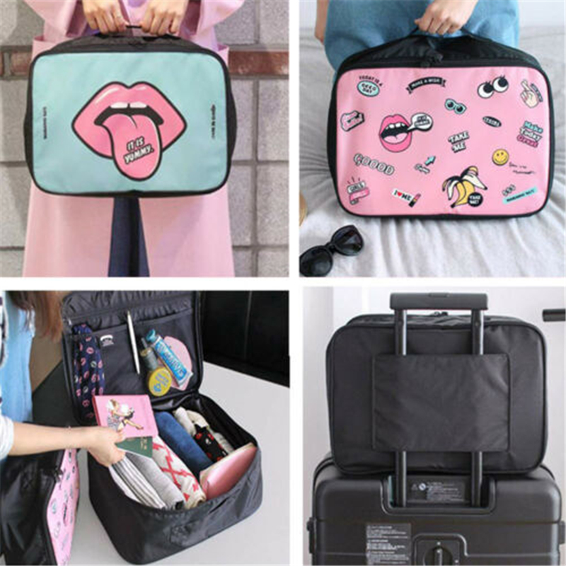 Professional Large Make-Up Bag Vanity Case Box Cosmetic Nail Tech Storage Beauty Hot New Travel Storage Bag Big Space Organizer