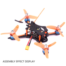 Rcharlance Racer Drone Space Gear GT140mm 160mm Carbon Fiber Frame Kit for 140mm RC Racing FPV Drone Training Competition