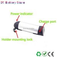 Freies verschiffen 48v 14ah lithium-ion power wasser flasche e-bike akku mit ladegerät für 350w 500w 750w motor batterie