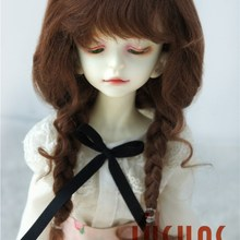 D2033B 1/4 MSD красивый мохеровый кукольный парик длинный курчавый BJD волосы Размер 7-8 дюймов мягкий мохеровый парик